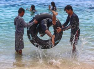 Děti na pláži