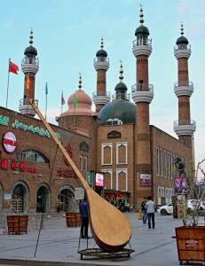 Grand international bazar a mešita Erdao