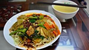 Oběd v muslimské čtvrti v Lanzhou