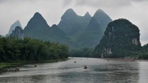 Řeka Li v Yangshuo