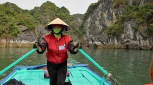 Ha Long - Bamboo boat