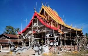 Chrám před dokončením
