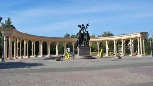 Puškinův a Abajevův památník